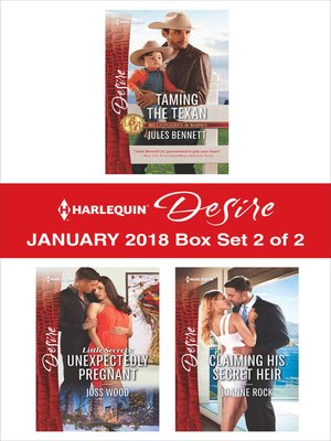 cover image of Harlequin Desire January 2018--Box Set 2 of 2