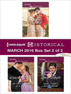 cover image of Harlequin Historical March 2016--Box Set 2 of 2