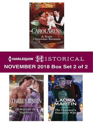 cover image of Harlequin Historical November 2018--Box Set 2 of 2