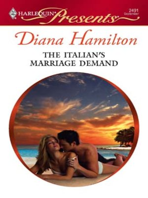 cover image of The Italian's Marriage Demand