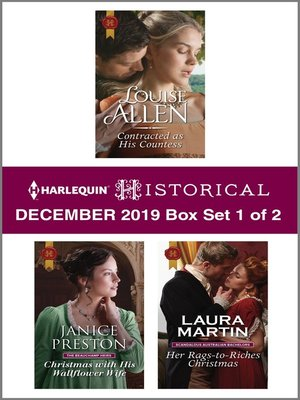 cover image of Harlequin Historical December 2019--Box Set 1 of 2