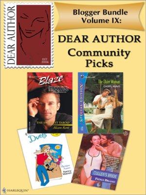 cover image of Blogger Bundle IX: Dear Author Community Picks