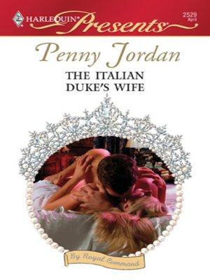 cover image of The Italian Duke's Wife