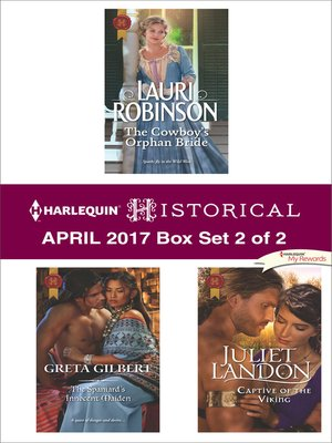 cover image of Harlequin Historical April 2017, Box Set 2 of 2