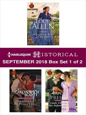 cover image of Harlequin Historical September 2018--Box Set 1 of 2
