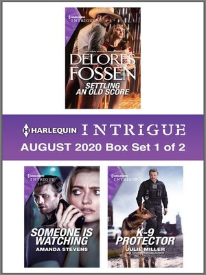 cover image of Harlequin Intrigue August 2020--Box Set 1 of 2