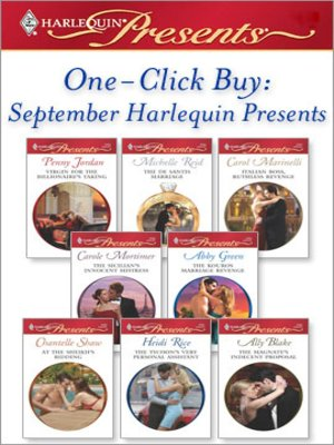 cover image of One-Click Buy: September Harlequin Presents