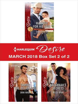 cover image of Harlequin Desire March 2018--Box Set 2 of 2