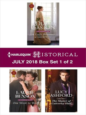 cover image of Harlequin Historical July 2018--Box Set 1 of 2