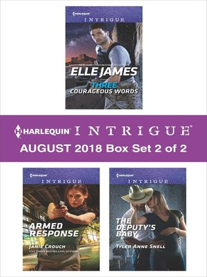 cover image of Harlequin Intrigue August 2018--Box Set 2 of 2