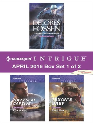 cover image of Harlequin Intrigue April 2016, Box Set 1 of 2