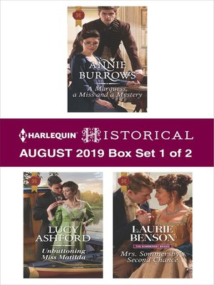 cover image of Harlequin Historical August 2019, Box Set 1 of 2