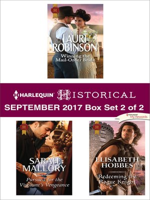 cover image of Harlequin Historical September 2017--Box Set 2 of 2
