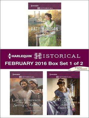 cover image of Harlequin Historical February 2016, Box Set 1 of 2