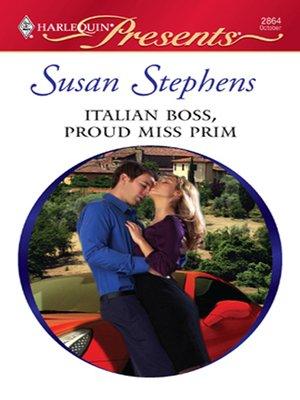 cover image of Italian Boss, Proud Miss Prim