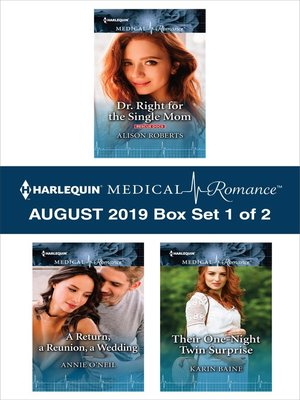 cover image of Harlequin Medical Romance August 2019, Box Set 1 of 2