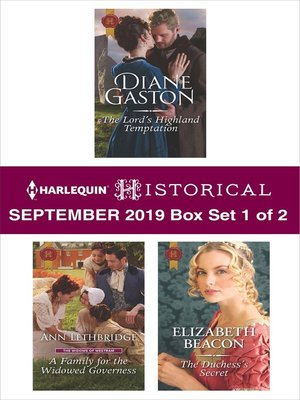 cover image of Harlequin Historical September 2019, Box Set 1 of 2
