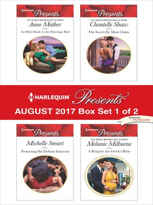 cover image of Harlequin Presents August 2017--Box Set 1 of 2