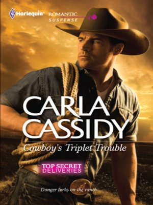 cover image of Cowboy's Triplet Trouble