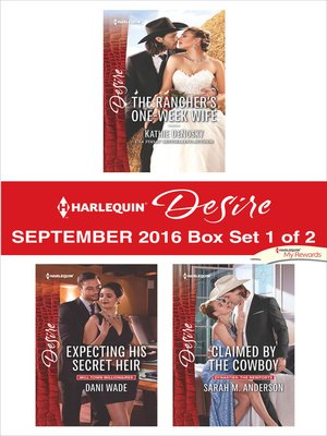 cover image of Harlequin Desire September 2016, Box Set 1 of 2