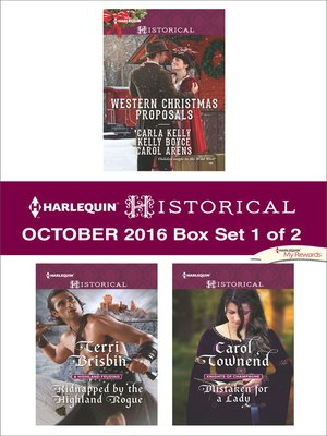 cover image of Harlequin Historical October 2016, Box Set 1 of 2