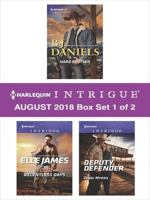 cover image of Harlequin Intrigue September 2018--Box Set 1 of 2