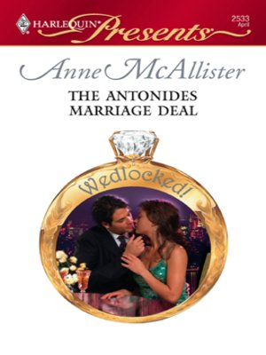 cover image of The Antonides Marriage Deal