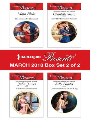 cover image of Harlequin Presents March 2018--Box Set 2 of 2