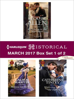 cover image of Harlequin Historical March 2017, Box Set 1 of 2