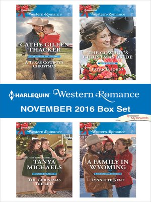 cover image of Harlequin Western Romance November 2016 Box Set