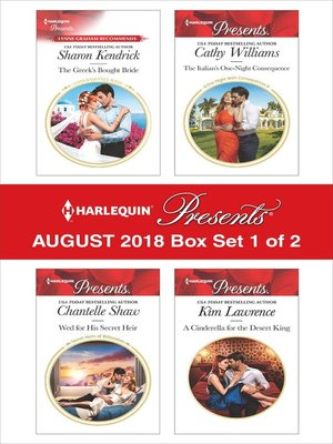 cover image of Harlequin Presents August 2018--Box Set 1 of 2