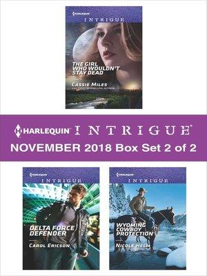 cover image of Harlequin Intriuge November 2018, Box Set 2 of 2