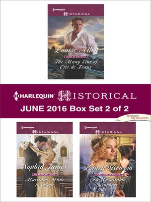 cover image of Harlequin Historical June 2016, Box Set 2 of 2