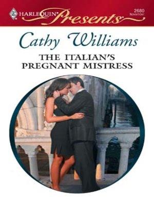 cover image of Italian's Pregnant Mistress