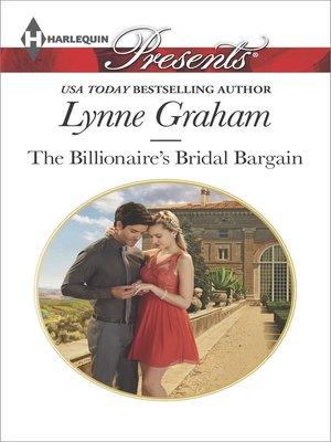 cover image of The Billionaire's Bridal Bargain
