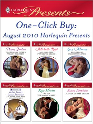 cover image of One-Click Buy: August 2010 Harlequin Presents