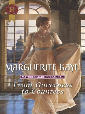cover image of From Governess to Countess--A Regency Romance