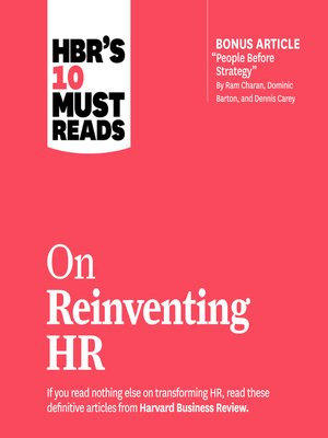 cover image of HBR's 10 Must Reads on Reinventing HR