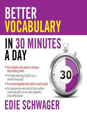 cover image of Better Vocabulary in 30 Minutes a Day
