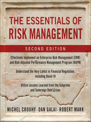 cover image of The Essentials of Risk Management