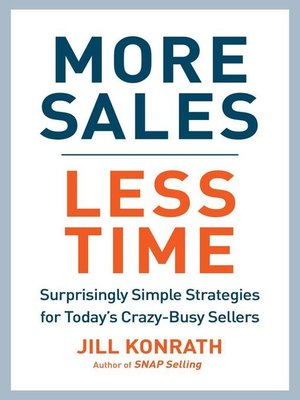 cover image of More Sales, Less Time