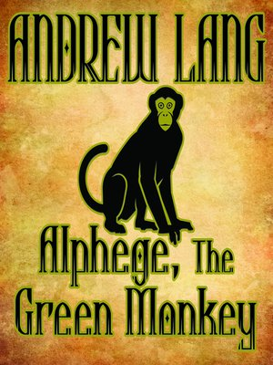 cover image of Alphege, the Green Monkey