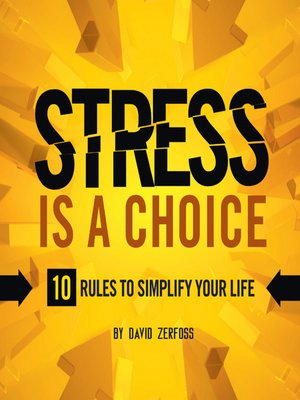 cover image of Stress is a Choice