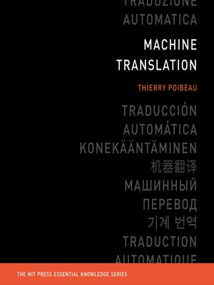 cover image of Machine Translation