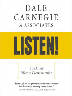 cover image of Dale Carnegie & Associates' Listen!