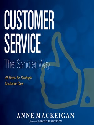 cover image of Customer Service the Sandler Way