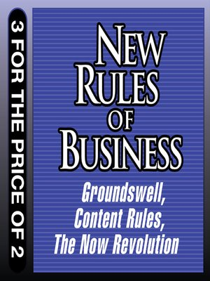 cover image of New Rules for Business