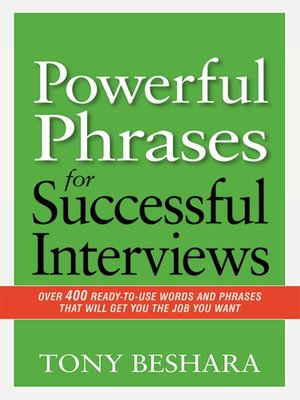cover image of Powerful Phrases for Successful Interviews
