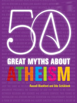 cover image of 50 Great Myths About Atheism