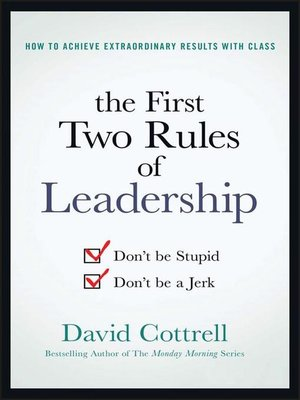 cover image of The First Two Rules of Leadership